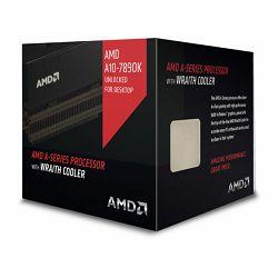 Procesor AMD Kaveri A10-Series X4 7890K (4.1/4.3GHz Boost,4MB,95W,FM2+, with quiet Wraith cooler) box, Black Edition, Radeon TM R7 Series