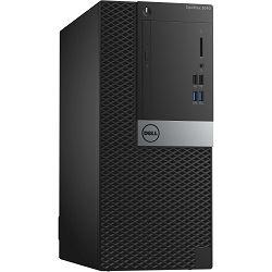 Računalo Dell Optiplex 3040 Mini Tower, Win10Pro, Core i5-6500, 4GB, 500GB, DVDRW, USB Keyboard+USB Mouse, int.Gb LAN, no WLAN, Intel HD 530, no Monitor, 4 x USB 3.0, 2 x USB 2.0; 1 RJ-45