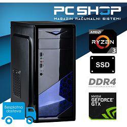 Računalo MagazinRS (AMD Ryzen 3 1200 3.10 GHz, GTX 1050Ti, 8GB DDR4 RAM, SSD 240GB)