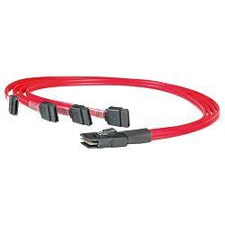Roline mini SAS na 4×SATA kabel, 0.5m