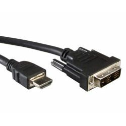 Roline VALUE DVI kabel, DVI (18+1) M na HDMI M, 3.0m