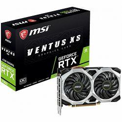 Grafička kartica MSI Video Card NVidia GeForce RTX 2060 VENTUS XS GDDR6 6GB/192bit, 1710MHz/14000MHz, PCI-E 3.0 x16, 3xDP, HDMI, TORX 2X Cooler(Double Slot) Backplate, Retail