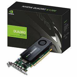 Grafička kartica PNY Quadro K1200 4 GB GDDR5 128-bit 80GB/s 512 PCI Express 2.0 x16 45W Mosaic Mode HDCP Support 3D Stereo Support