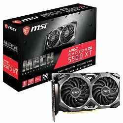 MSI Video Card AMD Radeon RX 5500 XT MECH OC GDDR6 4GB/128bit, 1733MHz/14000MHz, PCI-E 4.0, 3xDP, HDMI, TORX 2X Cooler(Double Slot), Backplate, Retail