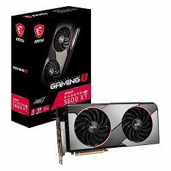 MSI Video Card AMD Radeon RX 5600 XT GAMING X GDDR6 6GB/192bit, 1460MHz/12000MHz, PCI-E 4.0, 3xDP, HDMI, TORX 2X Cooler(Double Slot), RGB Mystic Light, Backplate, Retail