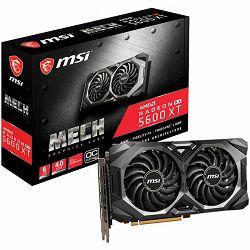 Grafička kartica MSI AMD Radeon RX 5600 XT MECH OC GDDR6 6GB/192bit, 1420MHz/12000MHz, PCI-E 4.0, 3xDP, HDMI, TORX 2X Cooler(Double Slot), Backplate, Retail