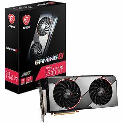 MSI Video Card AMD Radeon RX 5700 XT GAMING X GDDR6 8GB/256bit, 1870MHz/14000MHz, PCI-E 4.0, 3xDP, HDMI, TORX 2X Cooler(Double Slot) RGB Mystic Light, Backplate, Retail