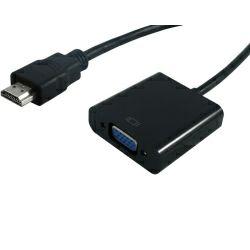 STANDARD adapter-kabel HDMI(M) na VGA(F), 0.15m