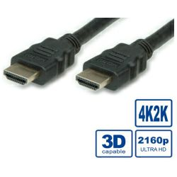 HDMI Ultra HD kabel sa mrežom, M/M, crni, 2.0m