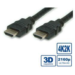 HDMI Ultra HD kabel sa mrežom, M/M, crni, 5.0m