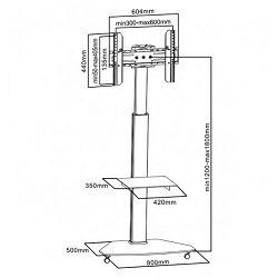 SBOX podni stalak za TV FS-500