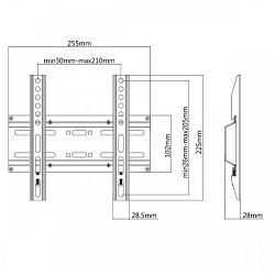 SBOX zidni stalak za TV PLB-2522F