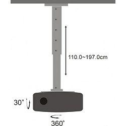 Stropni nosač projektora PM-200XL 15kg, do1,970m