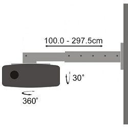 SBOX stropni nosač projektora PM-102, do 15kg