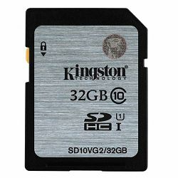 KINGSTON 32GB SDHC Class10 UHS-I 45MB/s Read Flash Card Lifetime