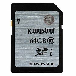 KINGSTON 64GB SDHC Class10 UHS-I 45MB/s Read Flash Card Lifetime