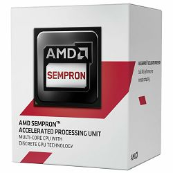Procesor AMD APU Desktop Sempron X4 3850 (1.3GHz,2MB,25W,AM1) box, Radeon R3