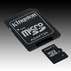 Memory ( flash cards ) KINGSTON MicroSDHC NAND Flash Micro SDHC 32GB Class 4, Plastic, 1pcs with SDHC adapter