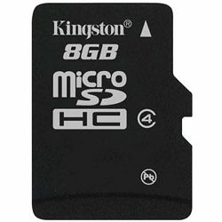 KINGSTON Memory ( flash cards ) 8GB SDC4 Micro SDHC, Plastic, 1pcs