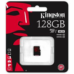 Kingston  128GB microSDXC UHS-I speed class 3 Single Pack w/o Adapter, EAN: 740617241747
