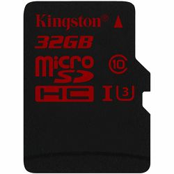 Kingston  32GB microSDHC UHS-I speed class 3 Single Pack w/o Adapter, EAN: 740617236996