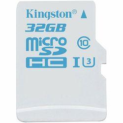 KINGSTON 32GB microSDHC UHS-I U3 Action Card Single Pack w/o Adapter Lifetime