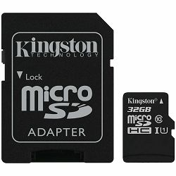 Memorijska kartica Kingston 32GB micSDHC Canvas Select Plus 100R A1 C10 Card + ADP EAN: 740617298680