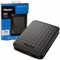 Vanjski HDD Maxtor M3 2TB, USB3.0, black