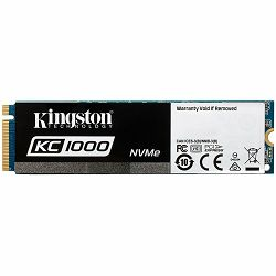 Kingston SSD 480GB KC1000 PCIe Gen3 x 4, NVMe (M.2 2280), EAN: 740617264975