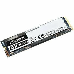 SSD Kingston 250GB KC2000 M.2 2280 NVMe SSD up to 3,000/1,100MB/s EAN: 740617293586