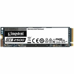 Kingston 250GB KC2500 M.2 2280 NVMe SSD, up to 3500/1200MB/s,  EAN: 740617307146