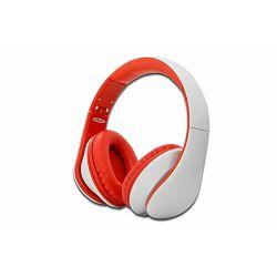 Slušalice Ednet Head Bang, bijelo-crvene