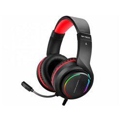 Slušalice + mikrofon NEON KRATOS, crno - crvene, gaming, 7,1, LED RGB, USB