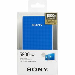 Sony power bank za mob. 5800 mAh, plavi