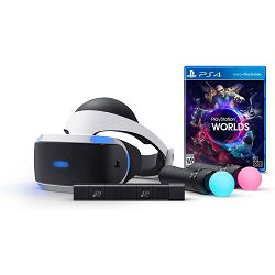SONY PlayStation VR, Camera v2, PS Move x2 + VR Worlds + Demo Disc + RIGS Mechanized Com League VR PS4