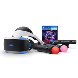 SONY PlayStation VR + PS4 Kamera v2 + VR Worlds VR + PS Move Twin Pack VR PS4
