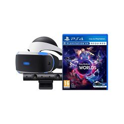 SONY PlayStation VR + PS4 Kamera v2 + VR Worlds VCH + Demo Disc + RIGS Mechanized Com League VR
