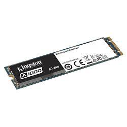 SSD Kingston 480G SSDNOW A1000 M.2 2280 NVMe PCIE x2 lanes, 300TBW, EAN: 740617277319