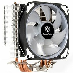 SilverStone SST-AR12-RGB Argon CPU Cooler, 4 Direct Contact Heatpipes, 120mm PWM RGB Fan, Intel/AMD