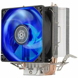 SilverStone SST-KR03 Kryton CPU Cooler, Silent hydraulic bearing 92mm blue LED fan, Intel LGA 775/115x/1200/1366 AMD Socket AM4/AM3/AM2/FM2/FM1