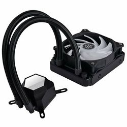 SilverStone PermaFrost Premium Water Cooler, Single Adjustable 120mm PWM, ARGB, Intel/AMD