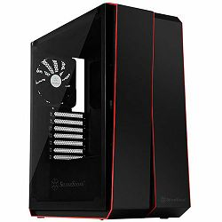 Kućište SilverStone REDLINE RL07 Midi Tower ATX Gaming Computer Case, Silent High Airflow Performance,  Full Tempered Glass, black