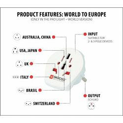 Skross Travel adapter world to Europe