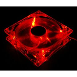 Ventilator System Fan Akyga AW-12A-BR 12cm LED red