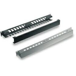 Tecnosteel razdjelnik kablova 2U s poklopcem, Black (F9441N)