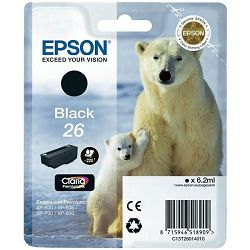 Tinta Epson 26 za XP-600;700;800 black(pigment)
