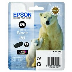Tinta Epson 26 za XP-600;700;800 photo-black