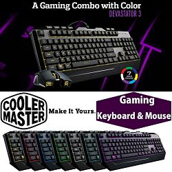 Tipkovnica + miš COOLERMASTER Devastator 3, RGB backlight