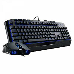 Tipkovnica + miš COOLERMASTER Devastator II, US Layout, plavi backlight, USB, crna