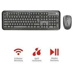 Tipkovnica + miš TRUST Nova, UK/HR layout, bežični (23690) - 23690